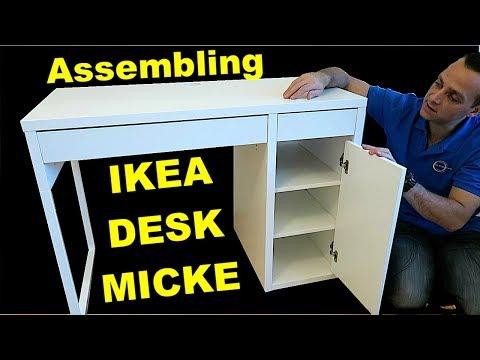Ikea MICKE desk assembly