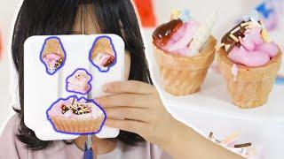 可愛くホイップケーキ屋さん 作っちゃおう♬ 【SNSでバズってる知育菓子】