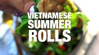 VIETNAMESE SUMMER ROLL WITH BUTTER LETTUCE INSTEAD OF MESSY RICE PAPER