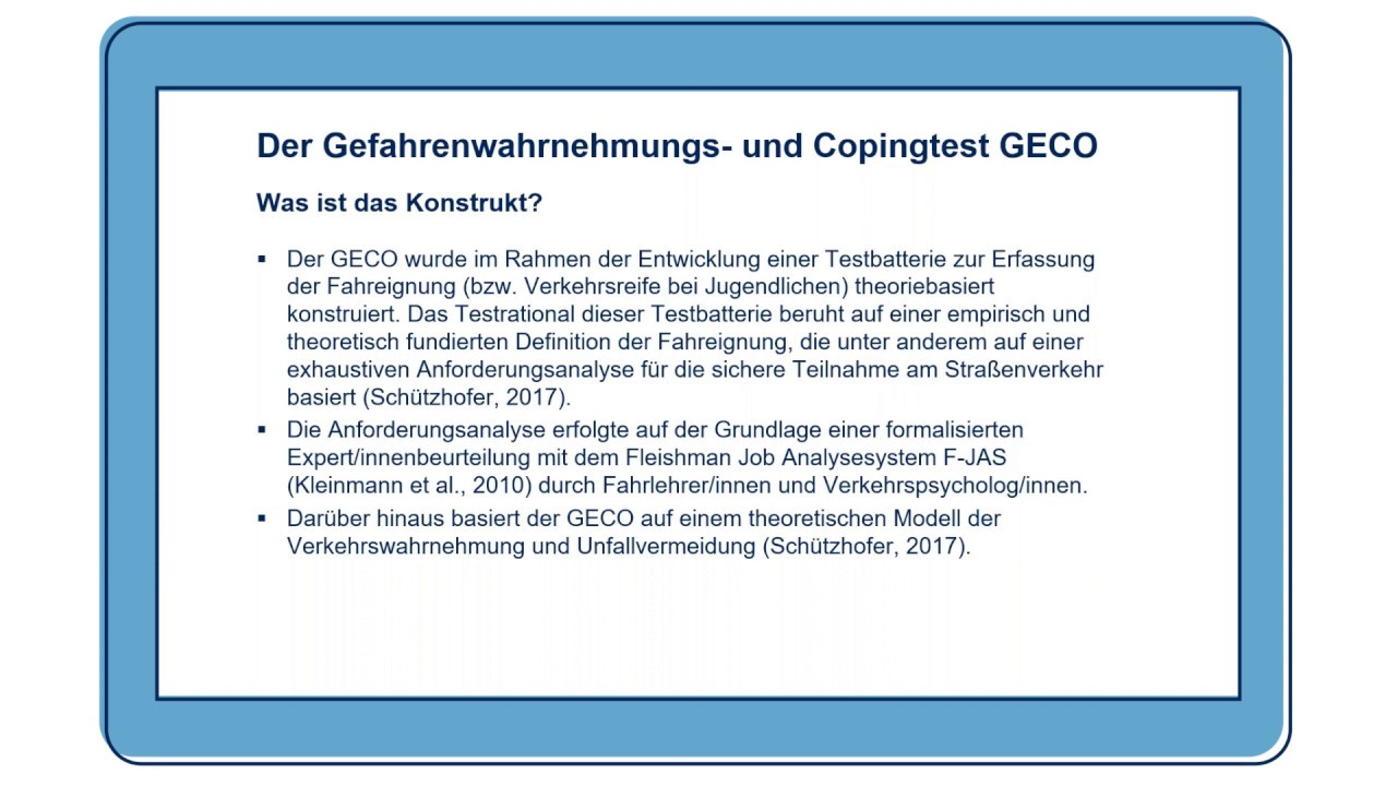 Gefahrenwahrnehmungs- und Copingtest (GECO)