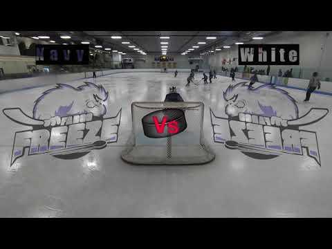 Fargo Freeze B1 Peewee's Navy vs White 12 8 2018