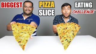 BIG PIZZA SLICE EATING CHALLENGE   Big Pizza Slice Eating Competition   Food Challenge