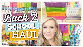 MASSIVE Back to School supplies HAUL 2017 | Dollar Tree, Walmart, Target & Costco | The Family Fudge