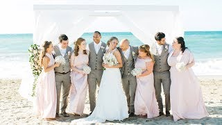 Beach Wedding In Crete Beside The Crystal Clear Waves