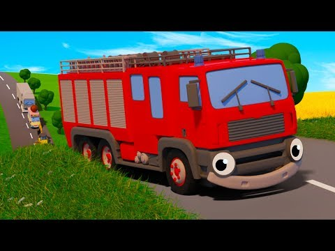 Five Big Trucks | Kids Songs | Gecko's Garage