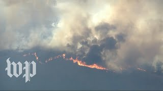 Watch live: Aerial views of Maria Fire blazing in Ventura County, Calif.