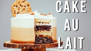 How To Make A COFFEE CAKE FOR FATHER'S DAY! Chocolate and vanilla cake with coffee buttercream!
