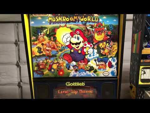 Super Mario Bros Mushroom World Pinball VPX - игровое видео