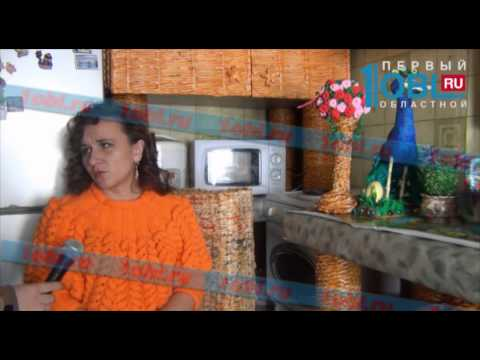 Таксистка из Пласта «собрала» мебель на кухню из газет