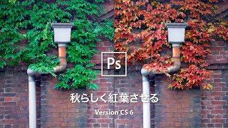 【Photoshop講座】緑の葉を秋らしく紅葉させる