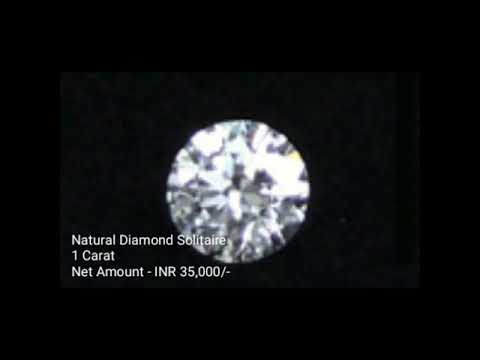 Natural Solitaire Diamond 50 Cents