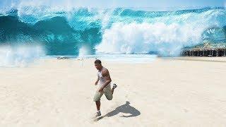 GTA 5  -  Soltando uma NUCLEAR no OCEANO! Tsunami Enorme