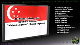 "Singapore National Anthem ""Majulah Singapura"" INSTRUMENTAL with lyrics"