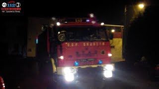 preview picture of video 'ALARMOWO! SYRENA + TRĄBY! 359[S]04 OSP KSRG Częstochowa-Gnaszyn, do pożaru traw.'