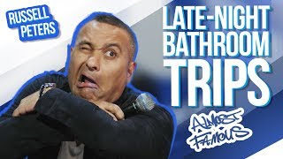 """""""Late-Night Bathroom Trips""""   Russell Peters - Almost Famous"""