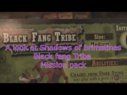 A look at Shadows of Brimstone Black Fang Tribe Mission Pack