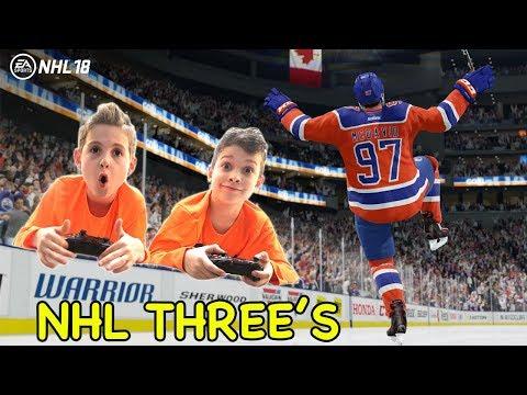 Kids HocKey EA Sports NHL 18 Threes Pacific All Stars vs Chicago BlackHawks