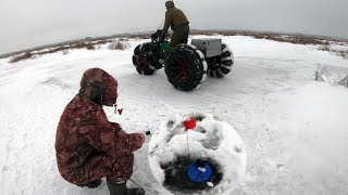 Рыбалка зимой на озере неро