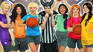 DISNEY PRINCESS GIRLS BASKETBALL TEAM. (Elsa, Rapunzel, Moana, Anna, Belle and Jasmine) Totally TV