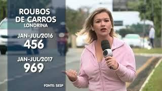 Roubos de carros em Londrina e região aumentaram neste ano