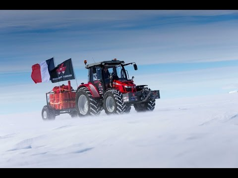 Manon Ossevoort treks from Holland to South Pole by Tractor