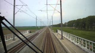 preview picture of video '[cabinerit] A train driver's view: Lelystad Centrum - Zwolle, 04-May-2014.'