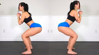BIG BOOTY & Thick Legs Bodyweight Squat Workout at Home!!
