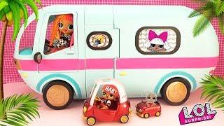 АВТО ДОМИК для куклы ЛОЛ с мебелью! Лучше чем для БАРБИ? Мультик поездка на ПИКНИК GLAMPER LOL