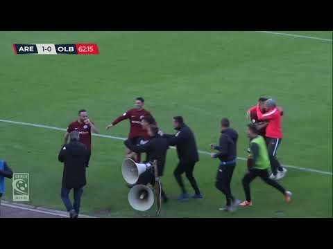 Arezzo-Olbia 2-1, la sintesi della partita