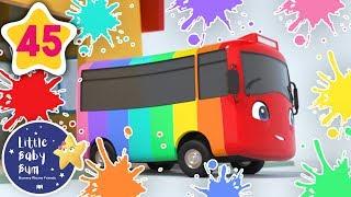 Learn Colors! - Rainbow Bus!   +More Baby Songs   Nursery Rhymes   Little Baby Bum
