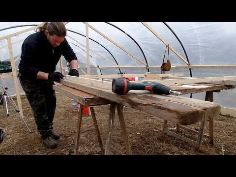 telai in legno per copertura cassoni orto rialzato - cover crops raised beds (parte 1)