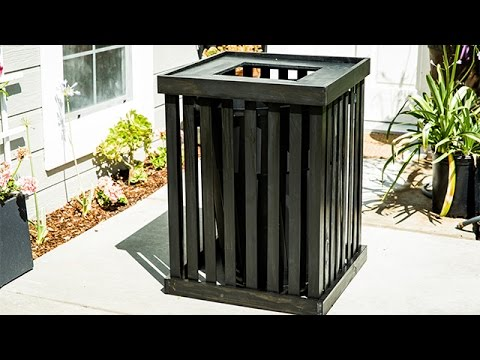 , title : 'How To - DIY Trash Can Covers - Hallmark Channel