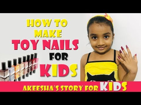Kids Toy Nail Making- Nail Salon- Making Nails for Kids- Play with Nail & fun- How to make Toy N