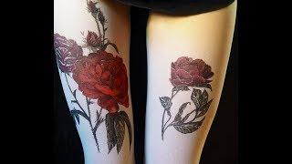 Реалистичные тату колготки, создающие впечатление тату