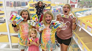 BACK to SCHOOL Shopping with 6 KIDS!