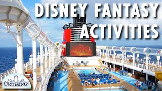 Disney Fantasy Tour & Review: Activities ~ Disney Cruise Line ~ Cruise Ship Tour & Review