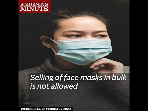 Selling of face masks in bulk is not allowed