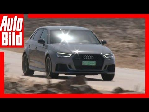 Audi RS 3 Sportback (2017) - Mit 400 Pferden durch die Wüste