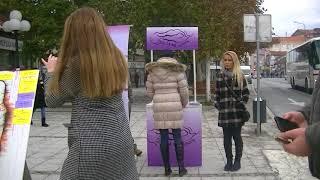 """Ulični performans """" Ustani za žene čiji se glas više ne čuje"""" 6.decembar 2017."""