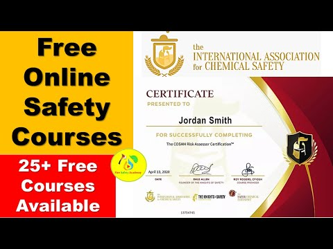 Free Online Safety Courses with Certificate By