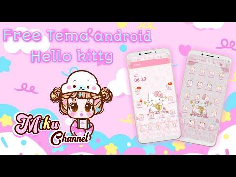 Free Hello kitty theme for Android   Tema gratis   Cara Pasang Tema Line launcher