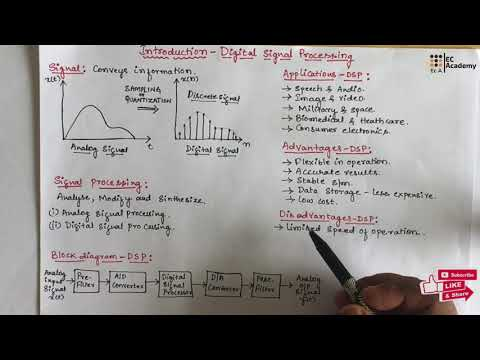 DSP#1 Introduction to Digital Signal Processing || EC Academy