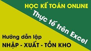 preview picture of video 'Học kế toán thuế thực tế trên Excel - Học thực hành kế toán tổng hợp tại Hà Nội'
