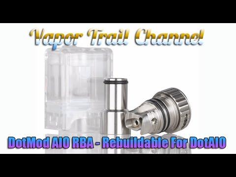 YouTube Video zu DotMod dotAIO RBA Selbstwickeleinheit mit Tank Pod 2.7 ml