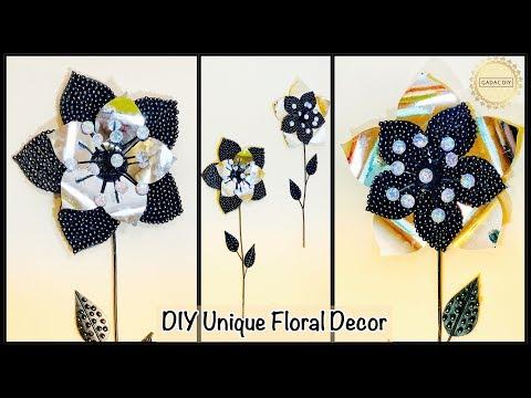 DIY Unique Floral Wall Decor| gadac diy| how to make wall hanging| craft ideas| diy projects| decor