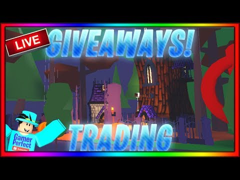 🔴[Live] ⭐ADOPT ME TRADING WITH GIVEAWAYS⭐! JOIN FOR TRADES AND GIVEAWAYS!😀