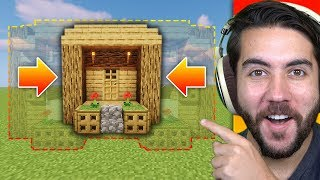 How Much Can I Shrink Someones Base Without Them Noticing? | Minecraft