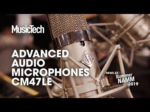 Advanced Audio reveal the CM47LE, their latest take on the U47 valve mic #SummerNAMM2019