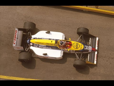 "Afbeelding: Nigel Mansell over de Williams FW11B-bolide: ""Awesome"""