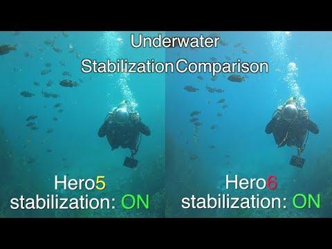 GoPro Hero6 Underwater Stabilization Comparison (with Hero5) GoPro Tip #597   MicBergsma